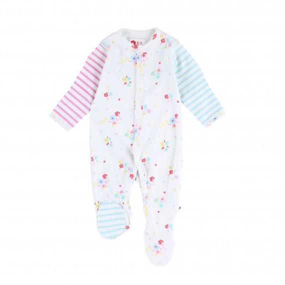 c4caa5f073c8 Flora Stripe Footed Sleepsuit