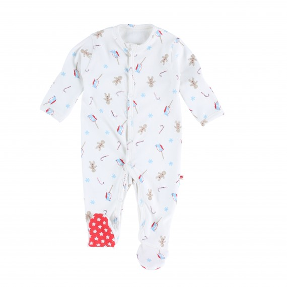 9870f864c640 Gingerbread Footed Sleepsuit
